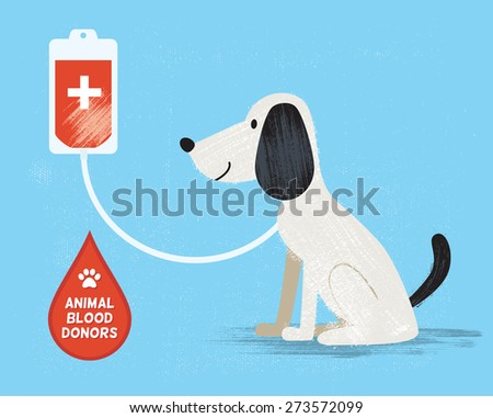 Animal blood donor. Vector illustration. Eps10 - stock vector