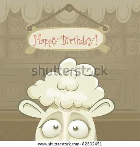 Animal Card Series Vector Birthday Card Stock Vector 82332451