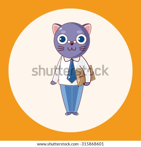 animal cat cartoon theme elements