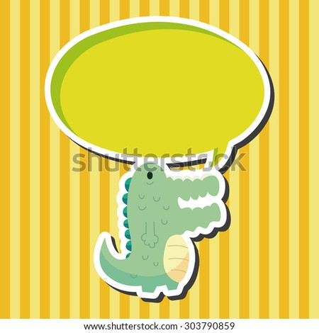 Animal crocodile flat icon elements, eps10