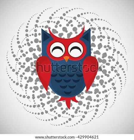 Animal design. owl icon. Isolated illustration , vector