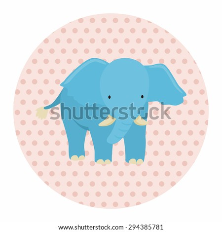 animal elephant cartoon theme elements - stock vector