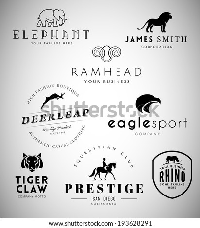 Animal Emblems Collection for Your Business - stock vector