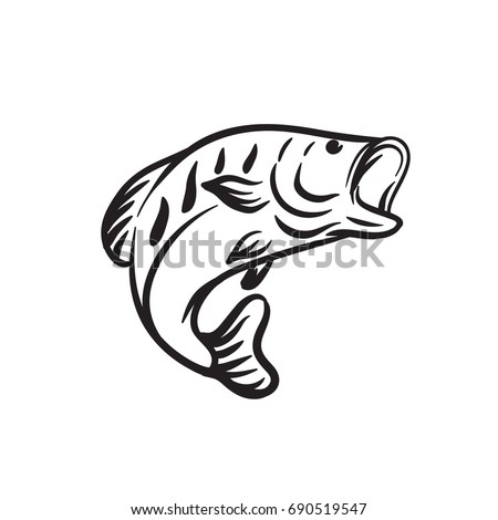 animal fish outline vector