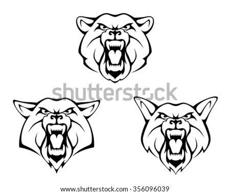 Animal head - stock vector