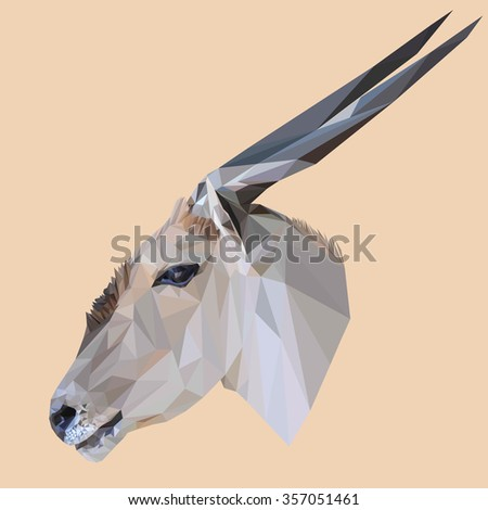 Animal low poly design. Triangle vector illustration. - stock vector