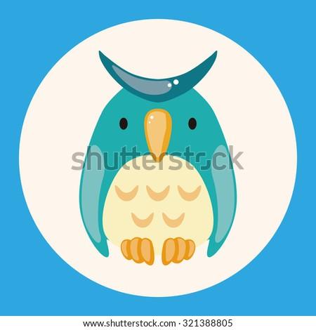 animal owl cartoon theme elements - stock vector