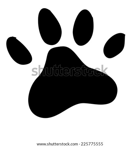 animal paw print. vector illustration