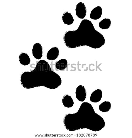 animal paws. vector illustration - stock vector