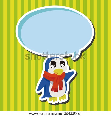 animal penguin cartoon theme elements