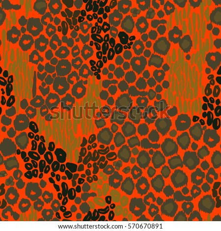 animal print leopard pattern vector background orange color abstract leo panther tiger printing seamless pattern - Animal Pictures Print Color