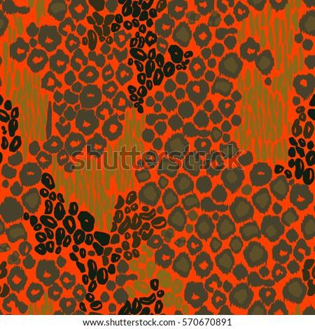 Animal Print Leopard Pattern Vector Background Stock Vector HD ...