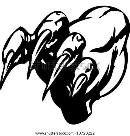 Tiger claws stock photos royalty free images vectors for Black claw tattoo