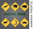 animal sign - stock vector