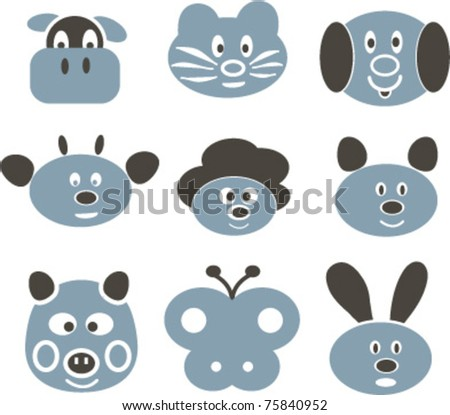 animal signs, vector