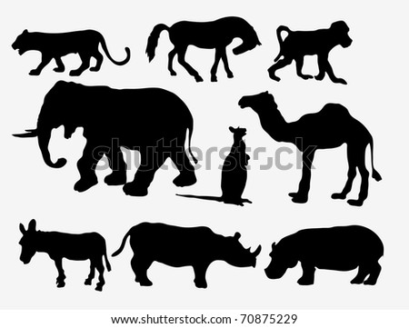 Animal silhouetts - stock vector
