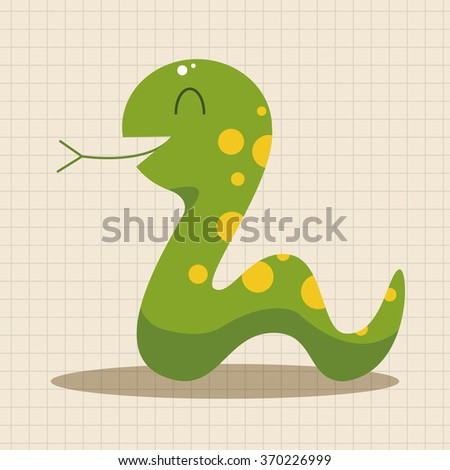 animal snake cartoon theme elements