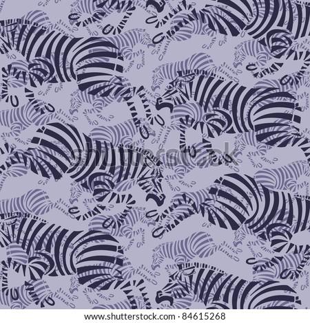 animal zebra pattern - stock vector