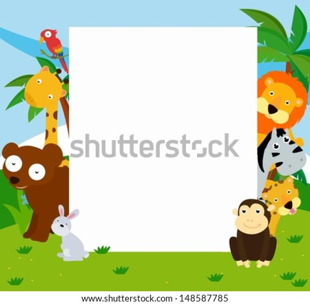 Animals and frame