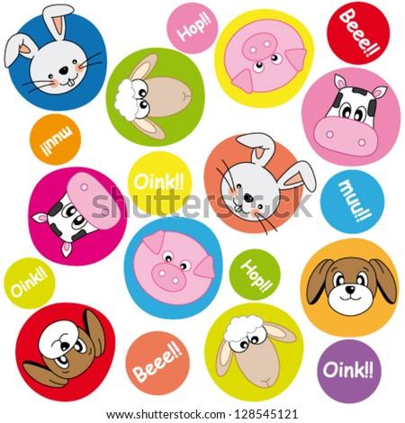 animals background - stock vector