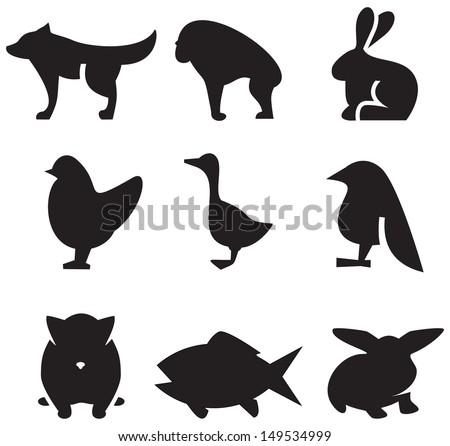 Animals icons - stock vector