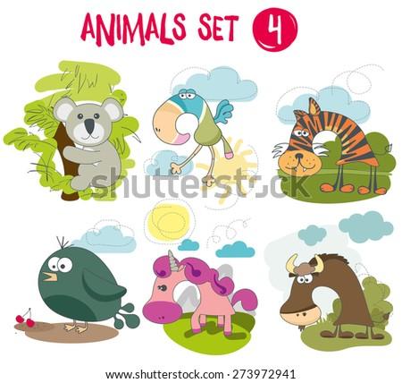 Animals set 4 - stock vector