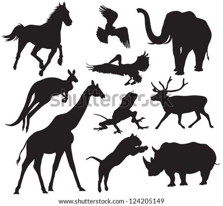 Animal Silhouettes For Decoration Australia