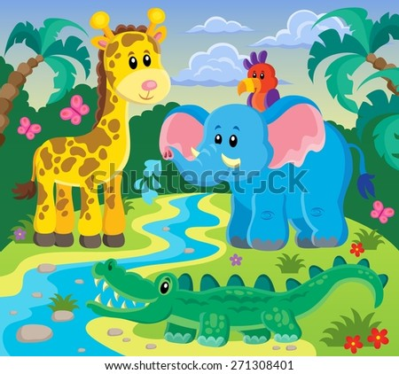 Animals topic image 1 - eps10 vector illustration. - stock vector