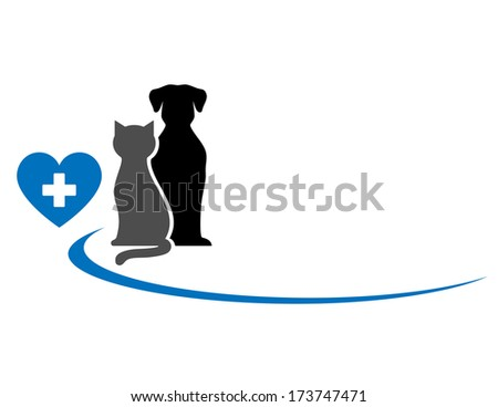 animals with place for text on white background - stock vector