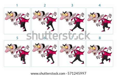 Animation Funny Cartoon Vampire Character 8 Stock Vector 571245997 ...