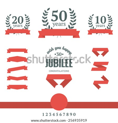 Aniversary design elements. Vector illustration. - stock vector