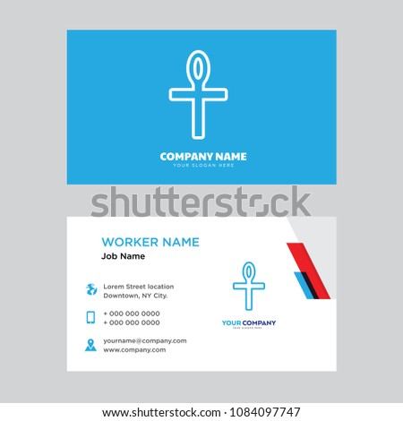 Ankh business card design template visiting stock photo photo ankh business card design template visiting for your company modern horizontal identity card vector cheaphphosting Images