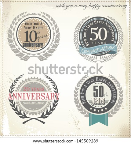 Anniversary collection - stock vector