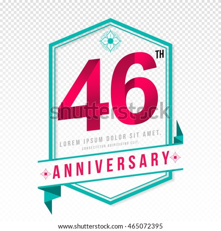 Anniversary emblems 46 anniversary template design