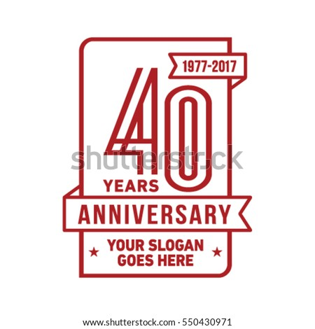 Anniversary logo. Vector and illustration.