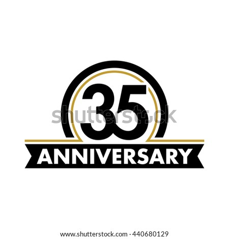 35th birthday stock photos royalty free images vectors shutterstock - Th anniversary symbol ...