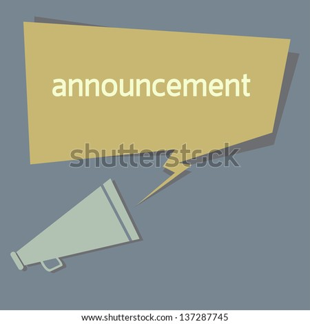 announcement quote. EPS10 - stock vector