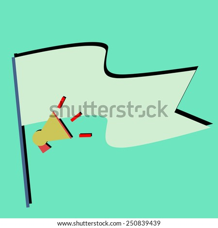 announcement quote flag - stock vector