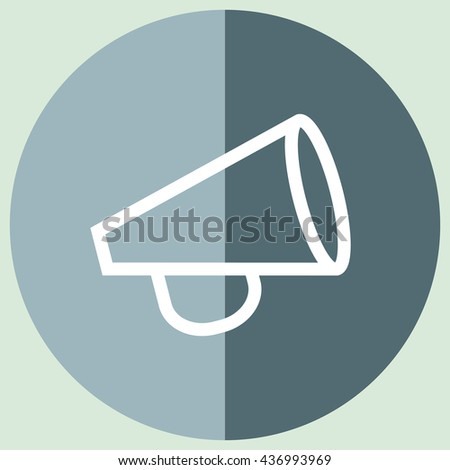 Announcement sign line vector icon. Loudspeaker sign line icon. Bullhorn sign line icon.