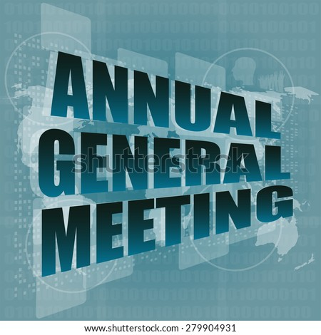 Annual General Meeting Stock Images Royalty Free Images