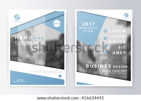 Annual report  brochure. Business plan flyer design template. Business paper. Leaflet cover presentation  layout in A4 size.  - stock vector