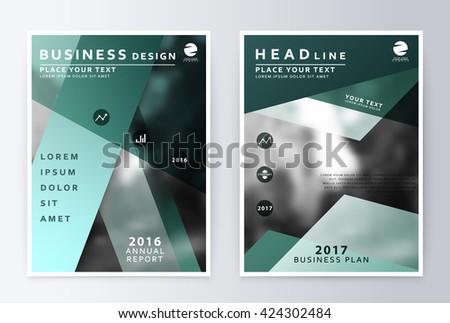 Annual Report Brochure Business Plan Flyer Stock Vector - Business plan design template