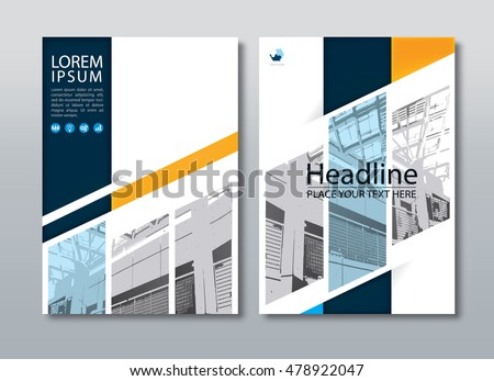 Annual Report Brochure Flyer Design Template Stock-Vektorgrafik ...