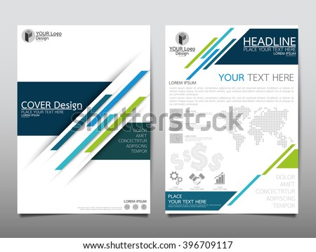 Annual Report Brochure Flyer Design Template Stock Vector (2018 ...