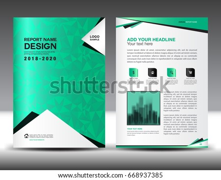 Annual Report Brochure Flyer Template, Green Cover Design, Business  Advertisement, Magazine Ads,  Advertisement Flyer Template