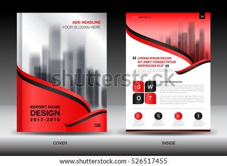 Annual Report Brochure Flyer Template Red Stock Vector 519086692