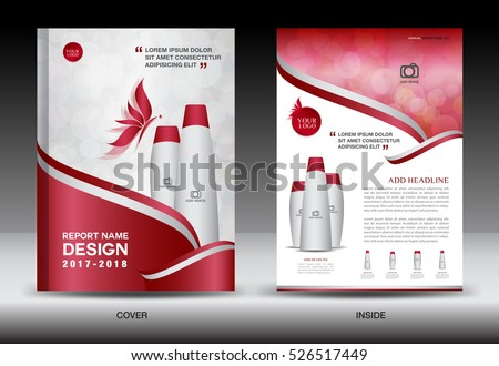 Annual Report Brochure Flyer Template Purple Stock Vector