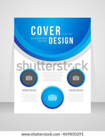 Annual report brochure flyer template vector design. Leaflet cover presentation abstract background.