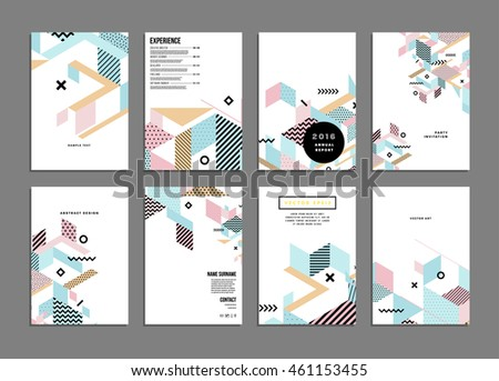 Annual report brochure template, Leaflet cover presentation, Flyer abstract flat background design, A4 layout vector. - stock vector