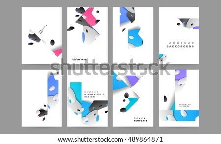Annual Report Brochure Template Leaflet Cover Stock Vector - Brochure template designs